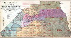 Index Map, Tulare County 1892